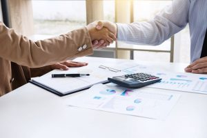 business sales handshake